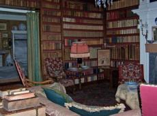 de bibliotheek van het kasteel